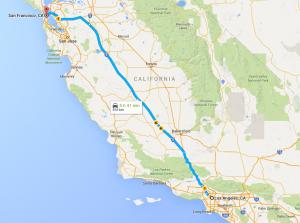 LA to SF
