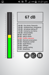 67dB - Sound from my bedroom when windows are opened