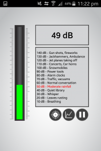 49dB - Sound from my bedroom when soundproof windows are closed