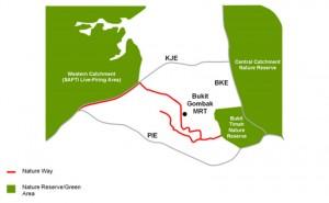 TengahNatureWay map