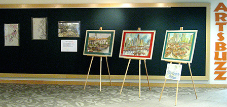 Some of the artworks on display