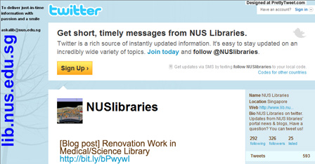 NUS Libraries on Twitter