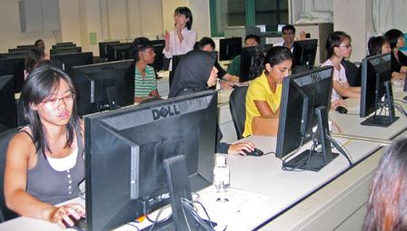 First year nursing students attending tutorial