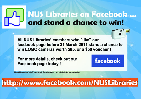 NUS Libraries is Now on Facebook! |