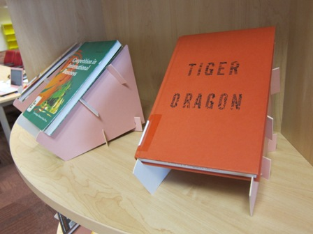 Even the book holders are in pink