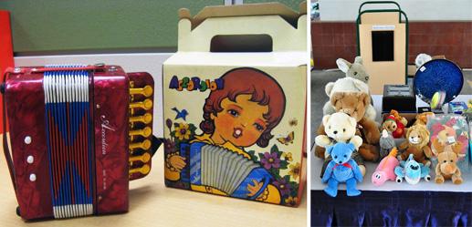 accordian and teddy bears