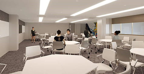 artist impression of discussion area