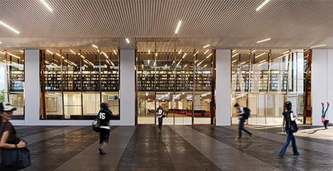 Artist impression of library main entrance
