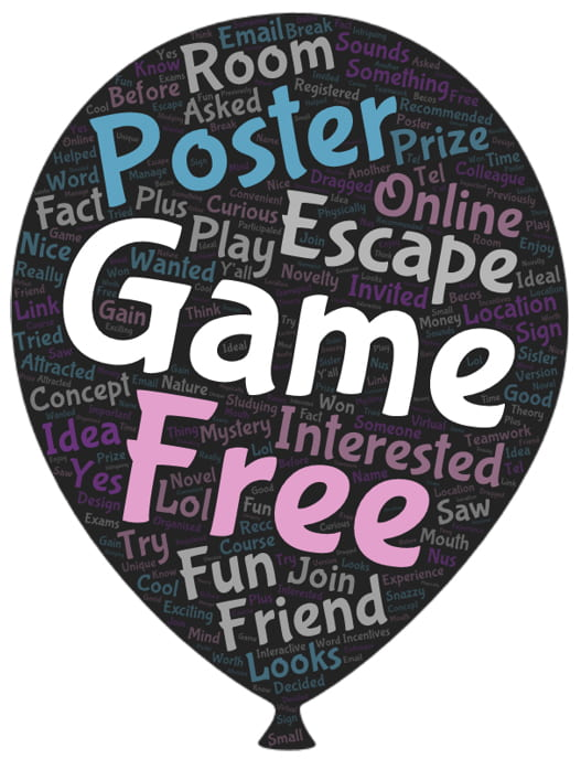 word cloud of why players joined the game
