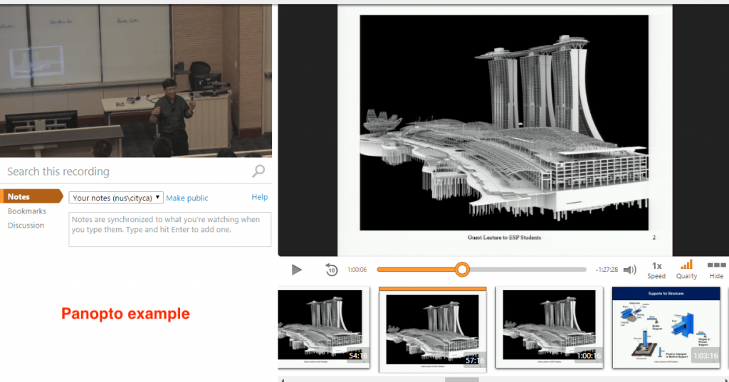 Panopto - click for a larger screenshot.