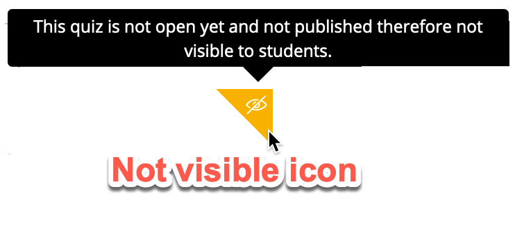 Not visible icon