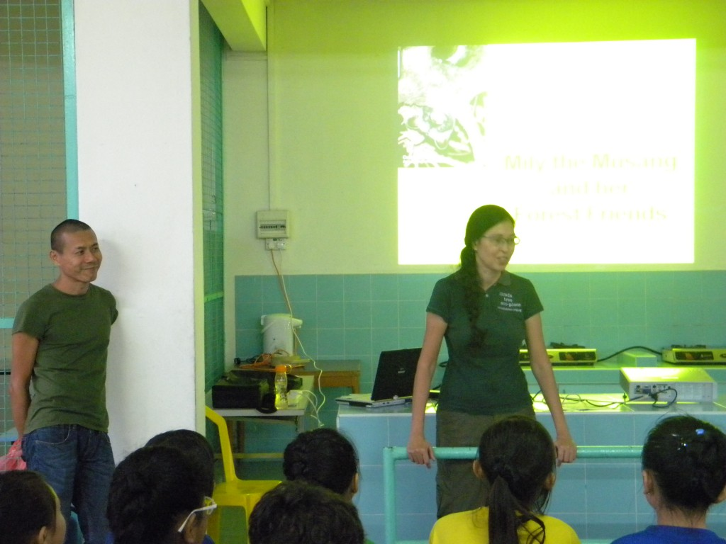 Vilma & Andrew presenting