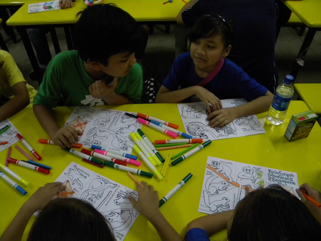 Colouring session of native biodiversity by the students