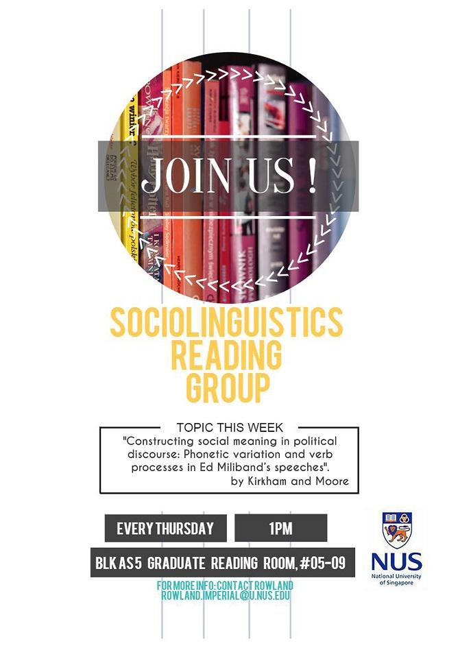 Socialinguistics Reading Group 28.01.2016