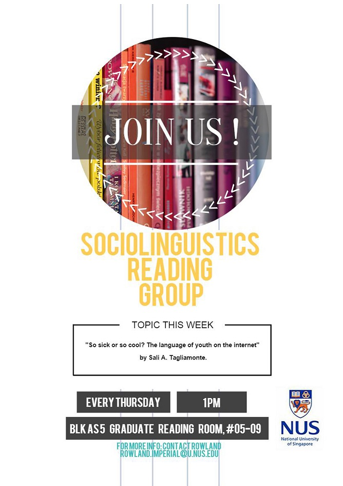 Sociolinguistics Reading Group 21.01.2016