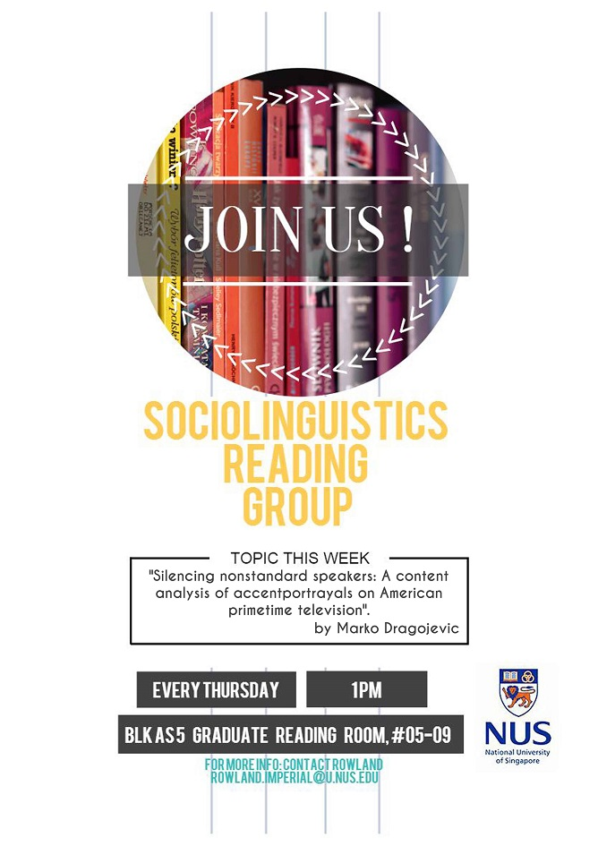 Sociolinguistics Reading Group 11.02.2016