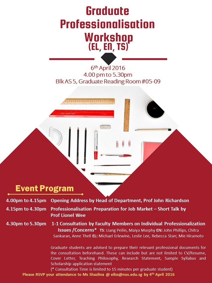 Graduate Professionalization Workshop