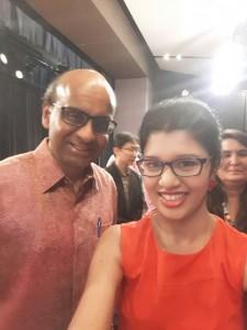 The author with DPM Mr Tharman Shanmugaratnam