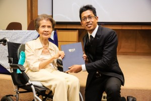 Barney Gopalakrishnen with guest-of-honour Dr Sylvia Goh