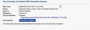 University of Auckland info_session