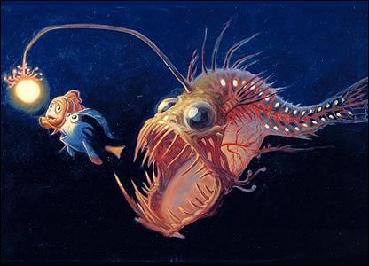 When the angler gets a bright idea the deep sea for Nemo light fish