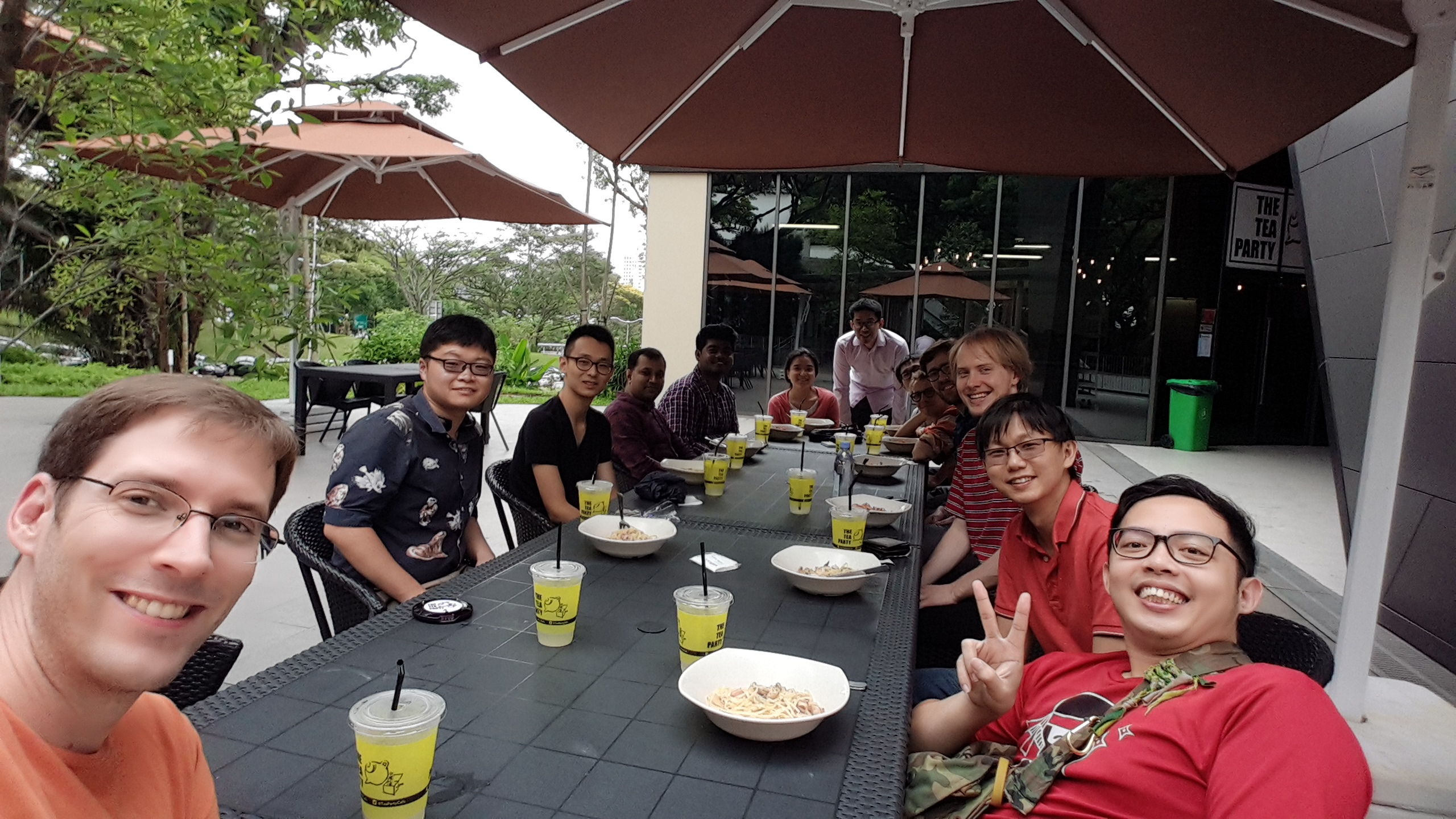 Group lunch. Jan 2018.