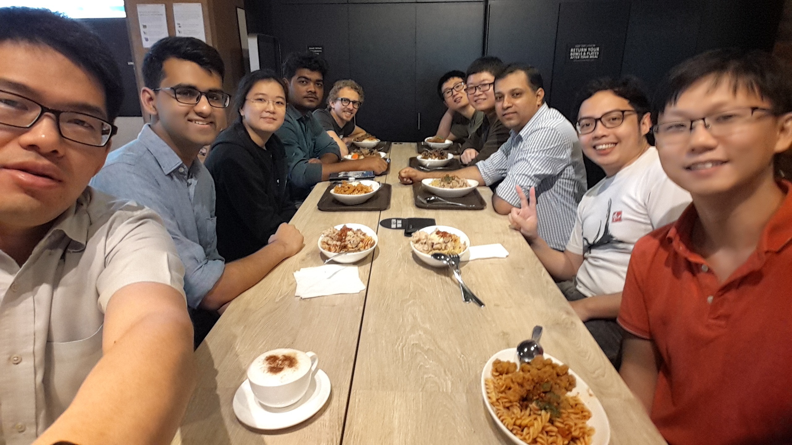 Group lunch. May 2018.