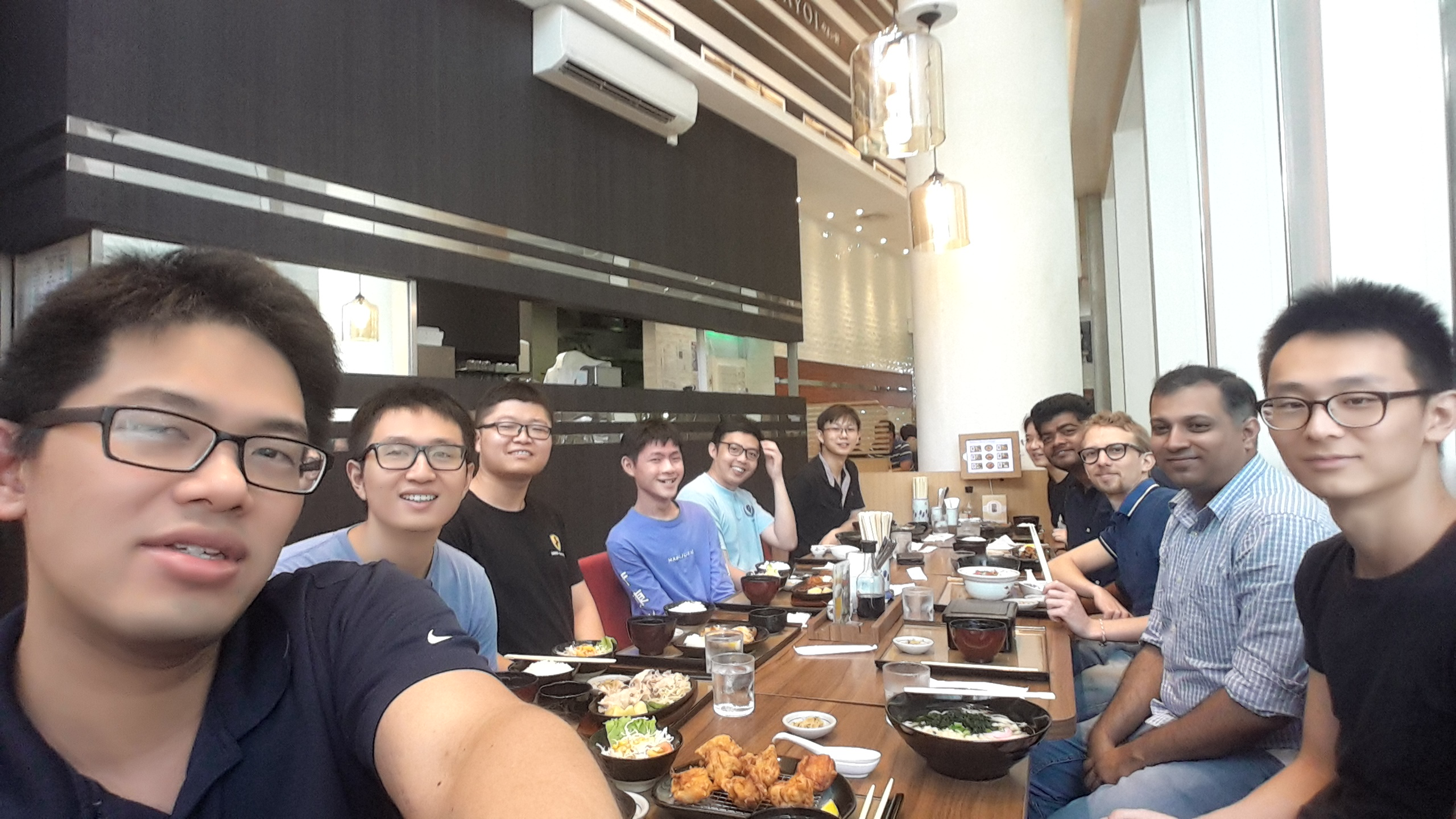 Group lunch. Jul 2018.