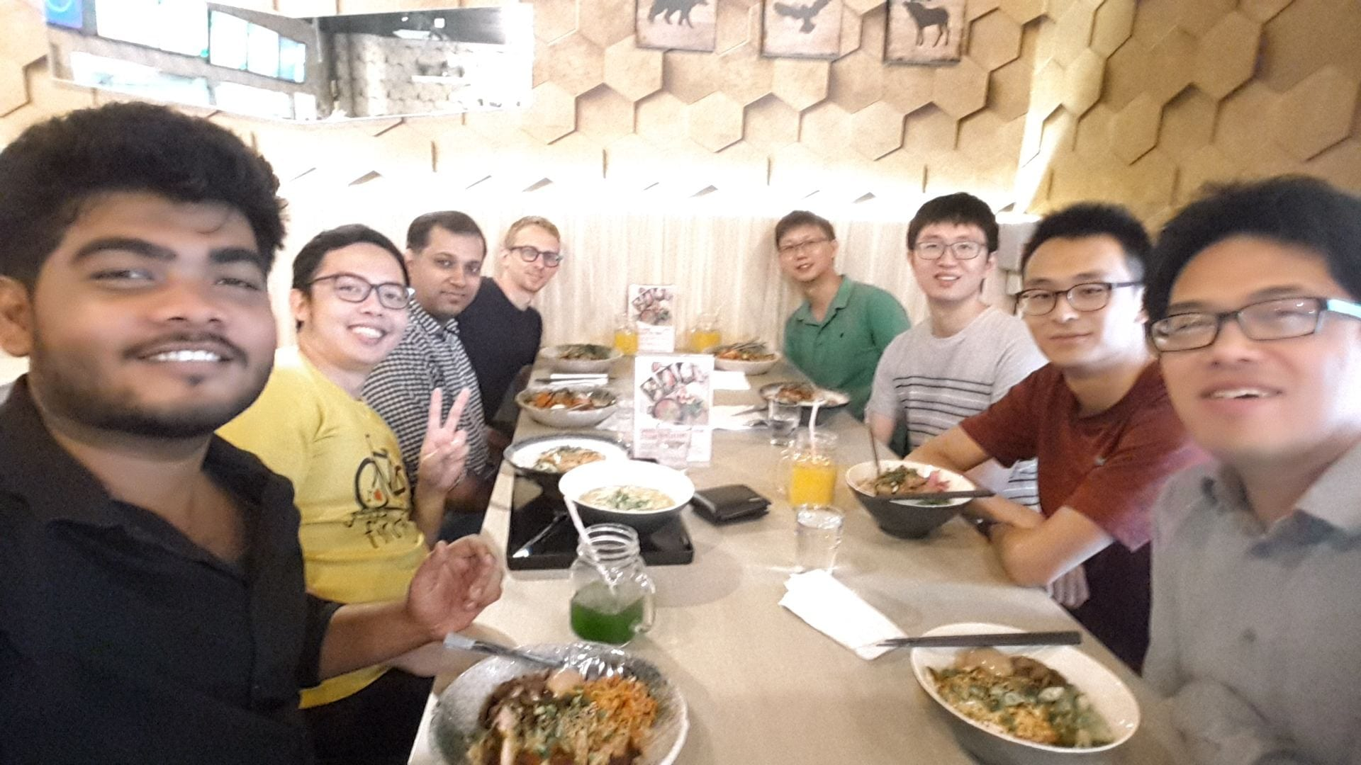 Group lunch. Oct 2018.