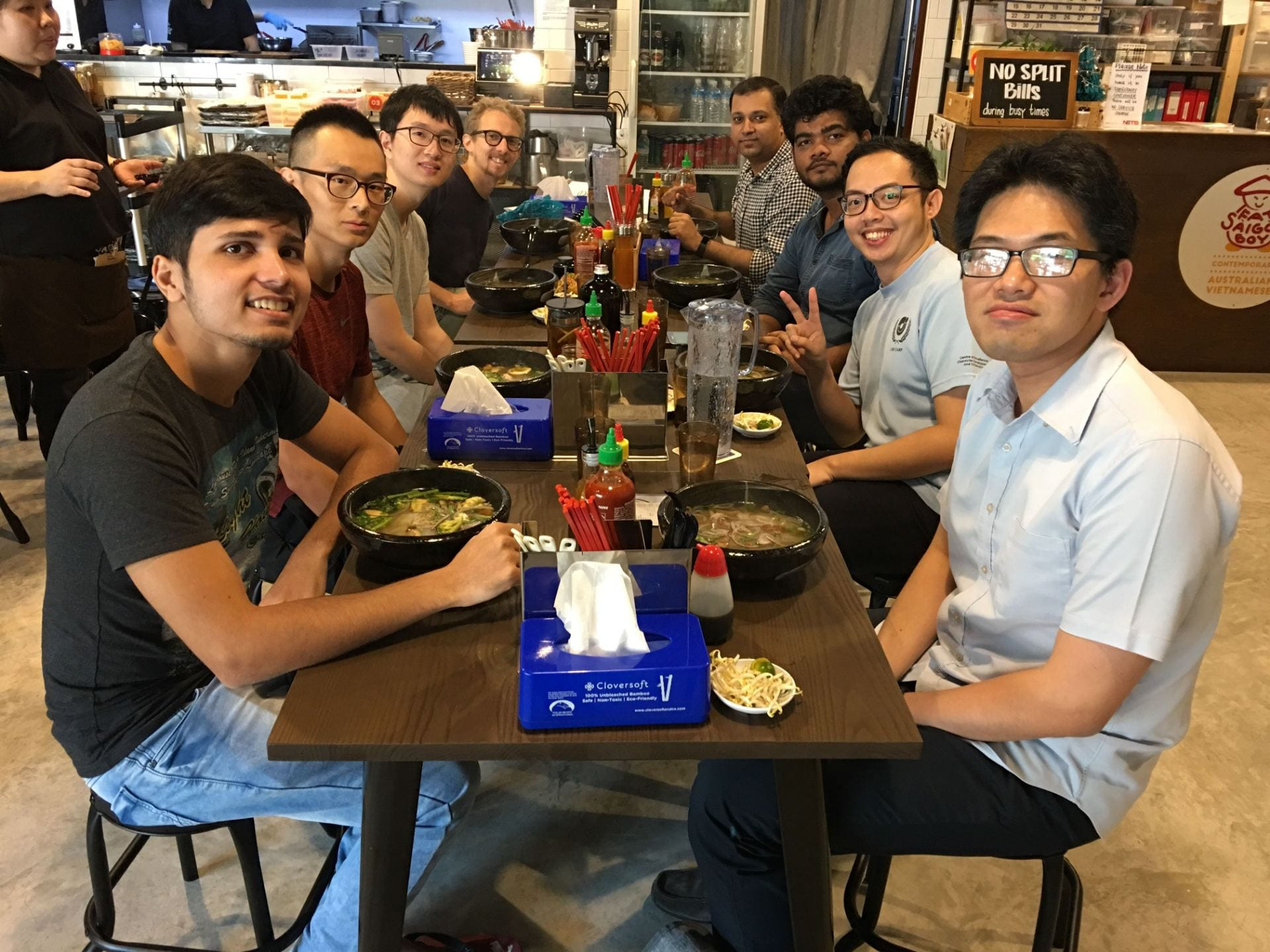 Group lunch. Dec 2018.