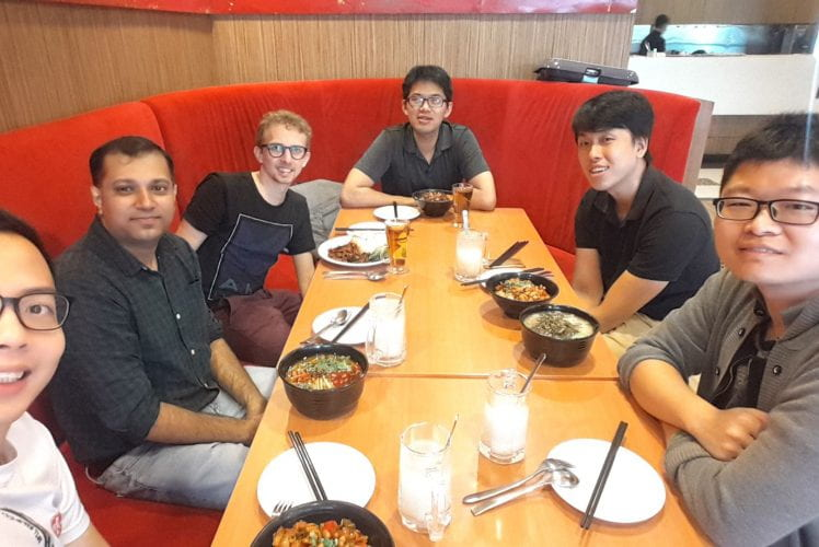 Group lunch. Jun 2019.