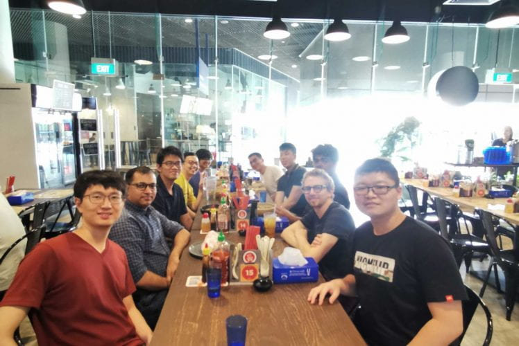 Group lunch. Oct 2019.
