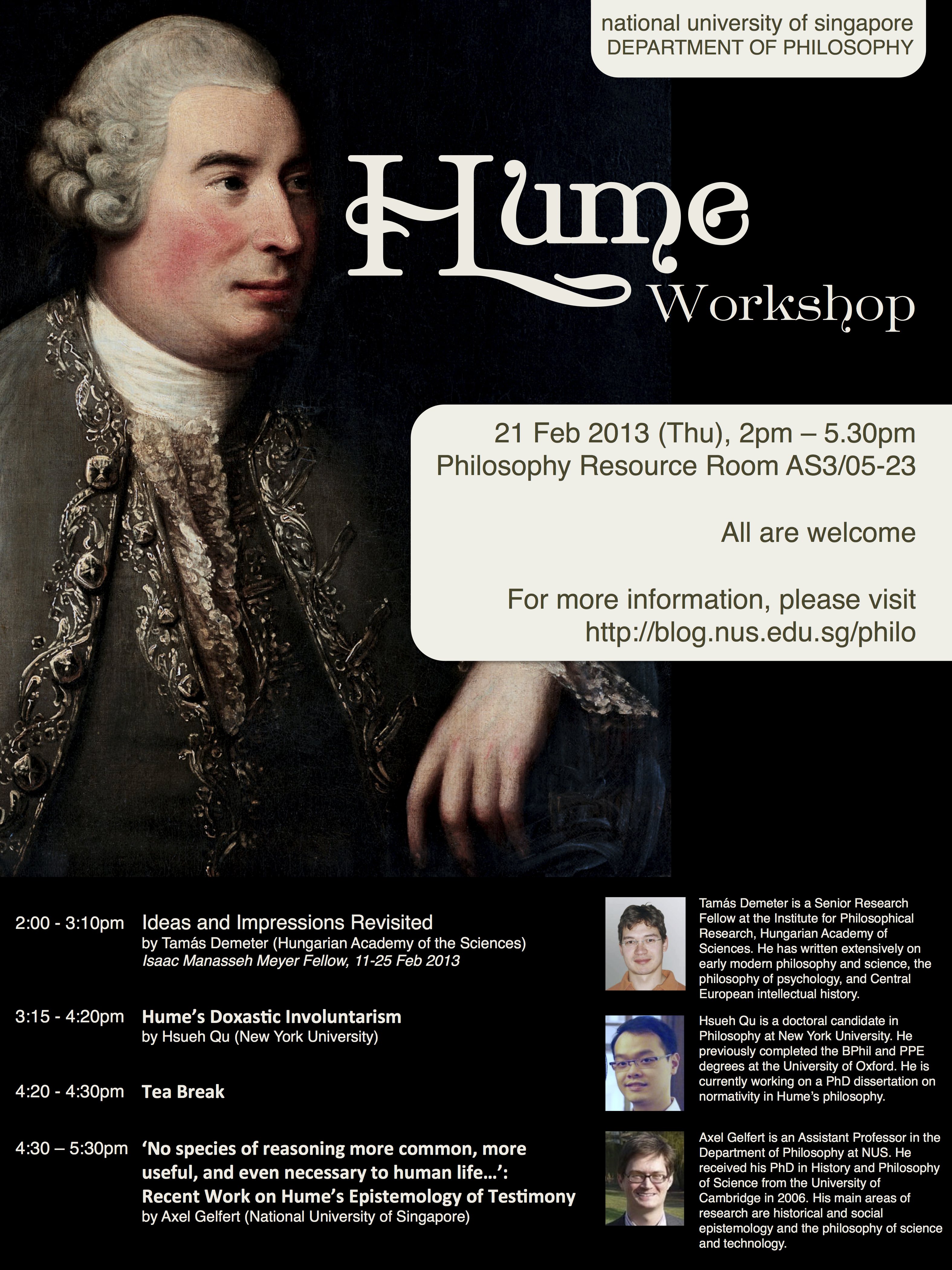 conferences philosophy at nus hume workshop 21 feb