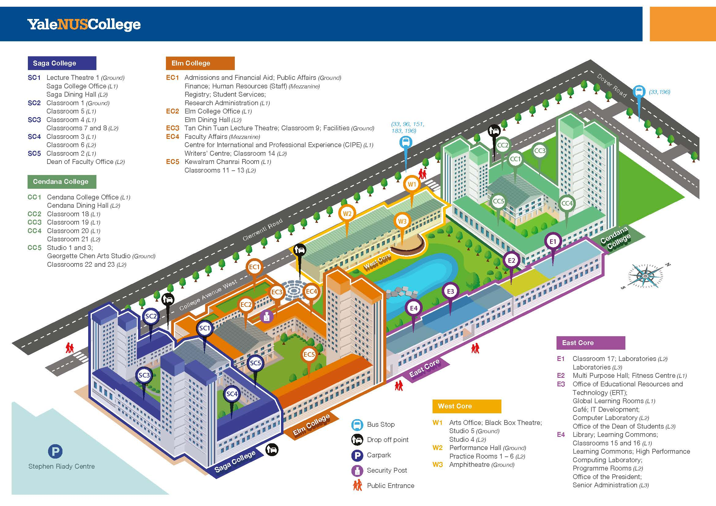 Campus map - overhead