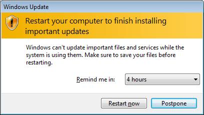Windows Update: Restart