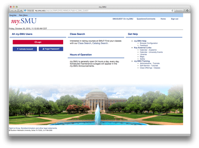 The new my.SMU portal.