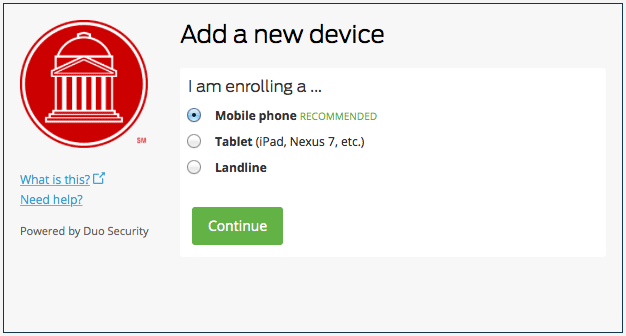 Duo Enrollment New Device