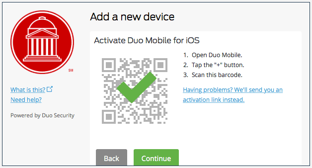 Duo Device Activated