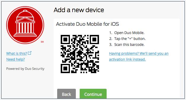 Duo Enrollment QR Code
