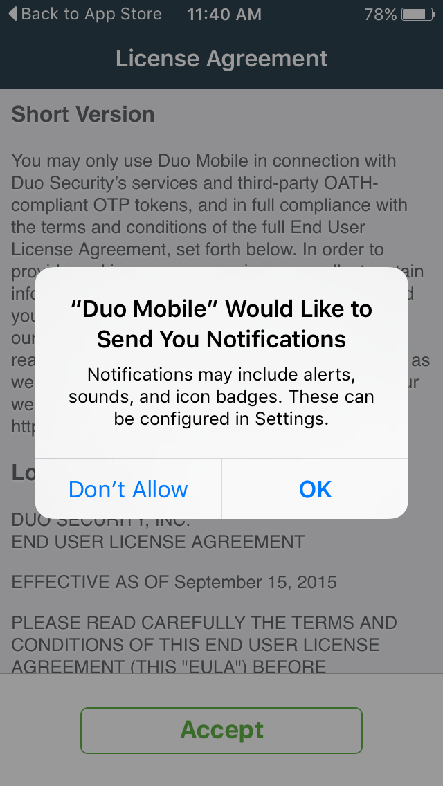 Duo Mobile Notifications