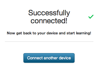 Lynda.com Successfully Connected message