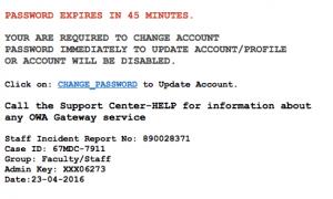 Phishing: Dear Mailbox User