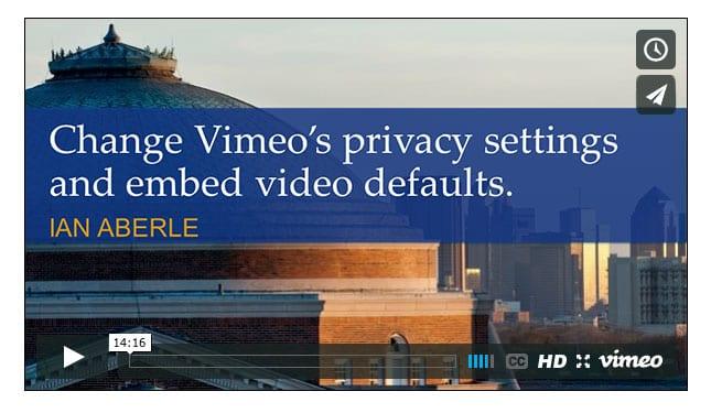 Embedded Vimeo video