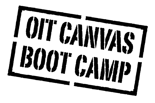 OIT Canvas Boot Camp