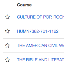Favorite Course Indicator
