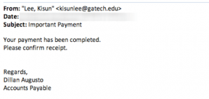 Phishing Message Example 2
