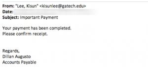 Phishing Message Example 2