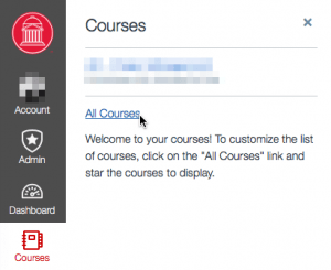 Canvas > Courses > All Courses