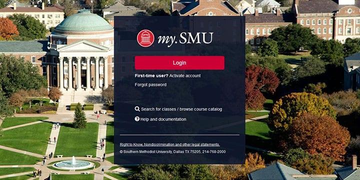 my.SMU Login Screen
