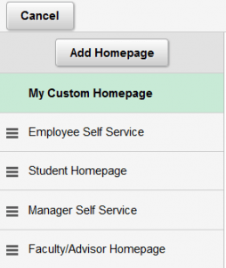 Setting the Default Homepage